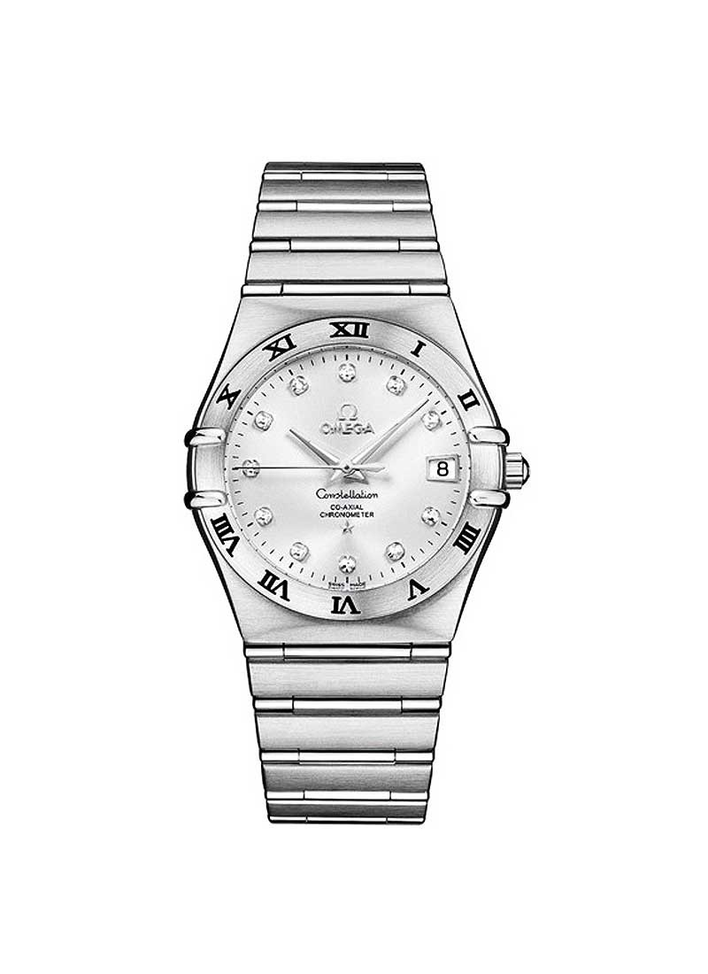 Omega Constellation Classic Large Size in Steel