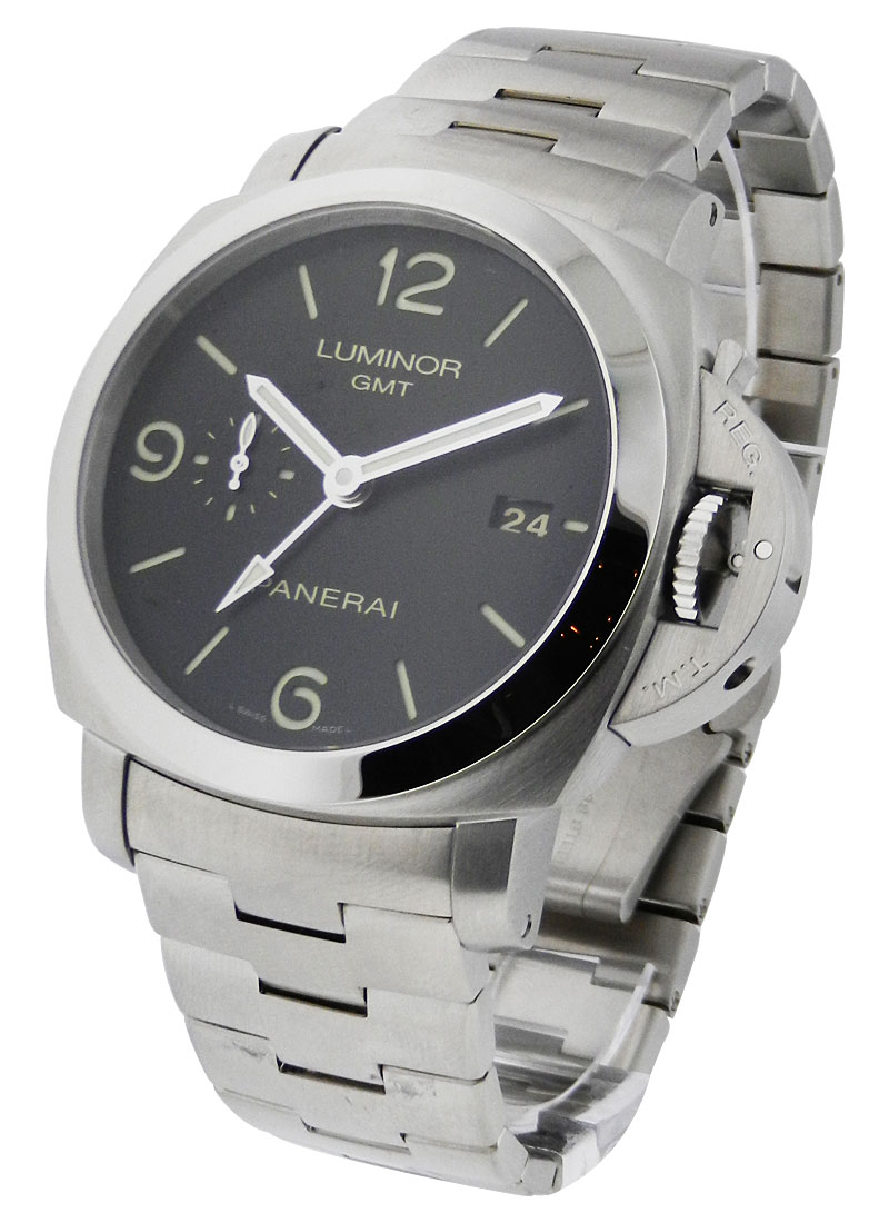 Panerai PAM 329 - Luminor 1950 GMT 44mm in Steel