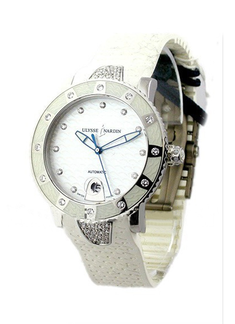 Ulysse Nardin Lady Diver in Steel with Diamond Bezel and Lugs