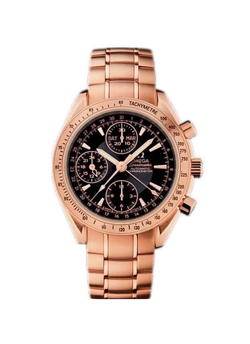 Omega Speedmaster Day Date Chronograph 40mm Automatic in Rose Gold with Tachymetre Bezel
