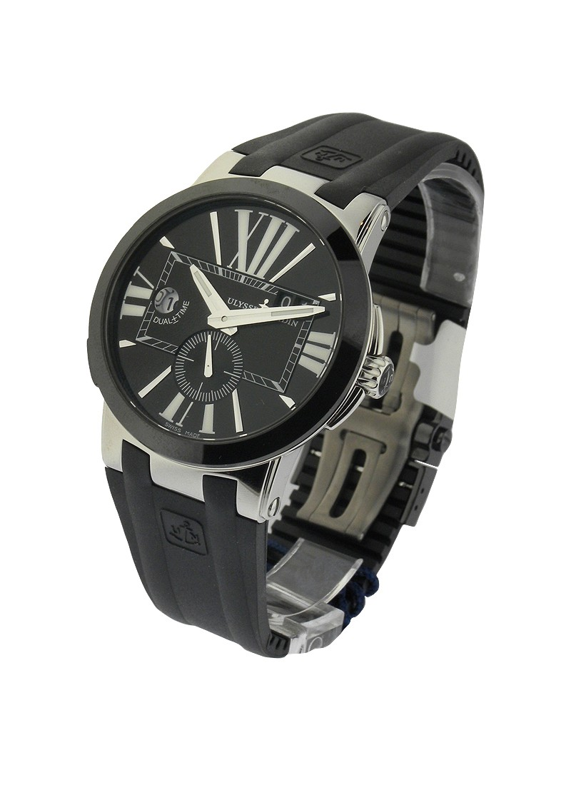 Ulysse Nardin Executive Dual Time in Steel with Black Ceramic Bezel
