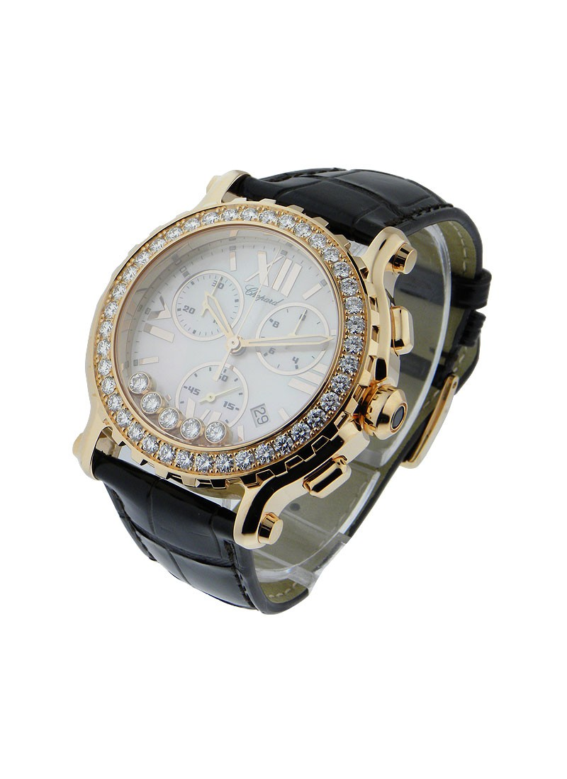Chopard Happy Sport Round Chronograph with Diamond Bezel