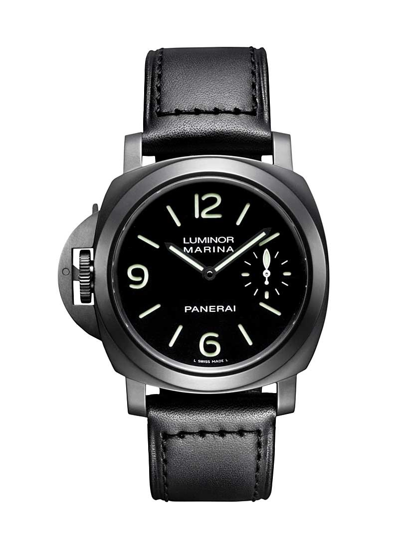 Panerai Luminor Marina Left Hand in PVD Black Steel   Special Edition 2008