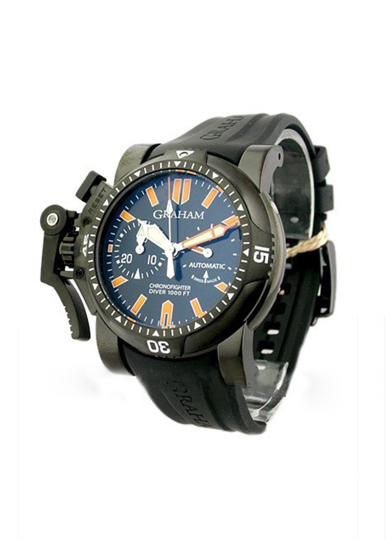 Graham Chronofighter Oversized Diver   Deep Seal in Black PVD Steel