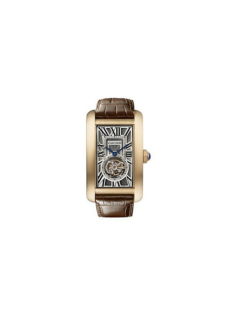 Cartier Tank American Flying Tourbillon XL in Rose Gold