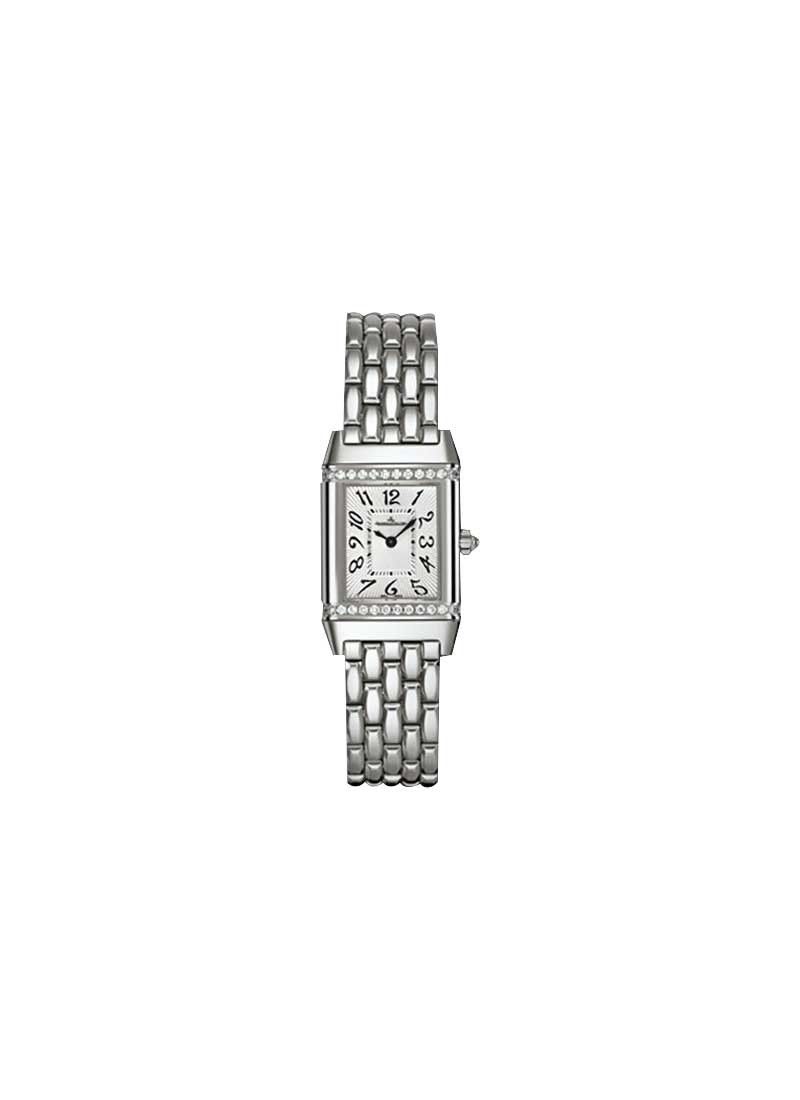 Jaeger - LeCoultre Reverso Lady Jewellery in Steel with Diamond Bezel