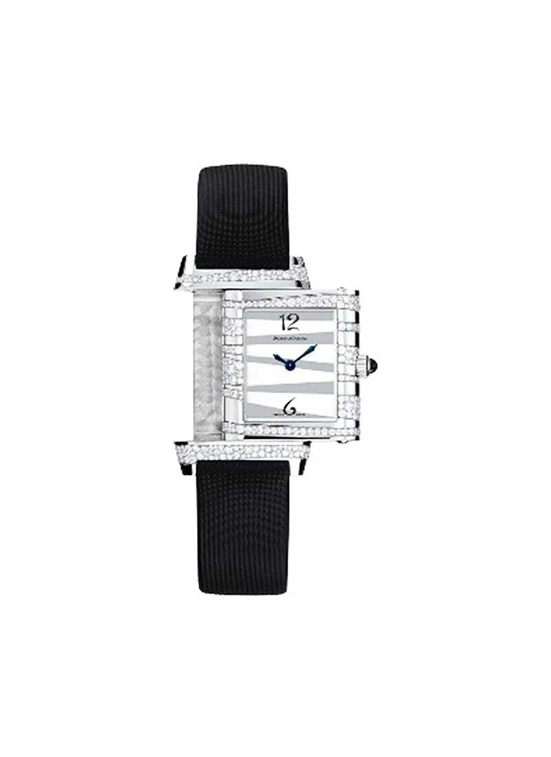 Jaeger - LeCoultre Lady's Reverso Neva in White Gold with Diamond Bezel