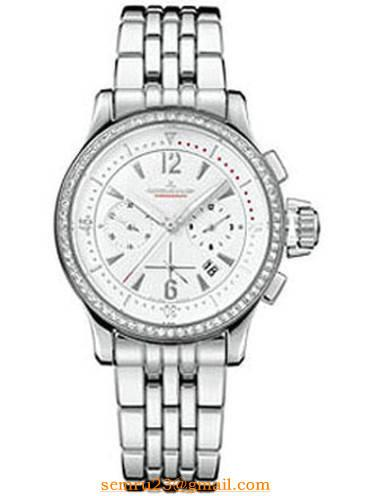 Jaeger - LeCoultre Lady''s Master Compressor Chronograph in Steel with Diamond Bezel