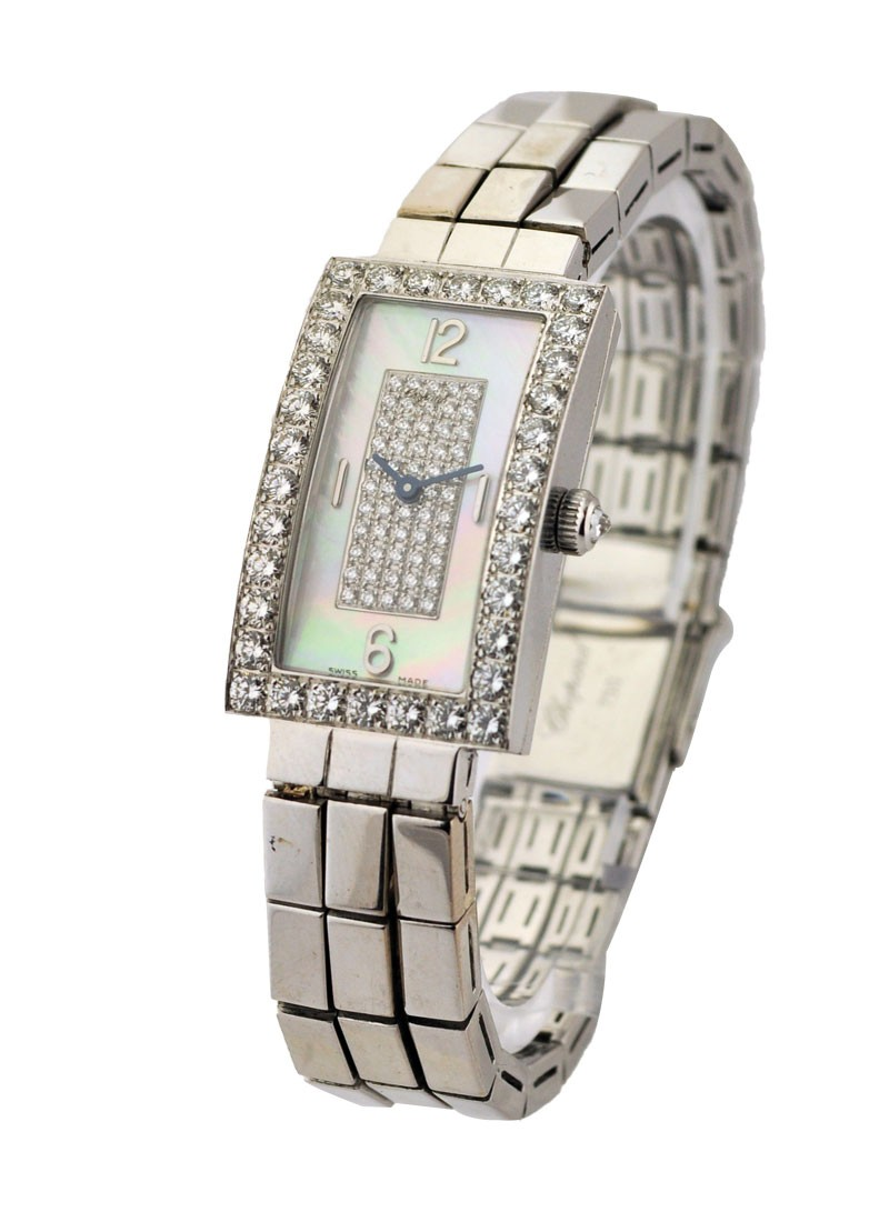 Chopard Classique Rectangle in White Gold with Diamond Bezel