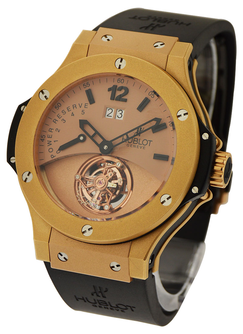 Hublot Big Bang Tourbillon with Big Date 44mm in Rose Gold Mat with Ceramic