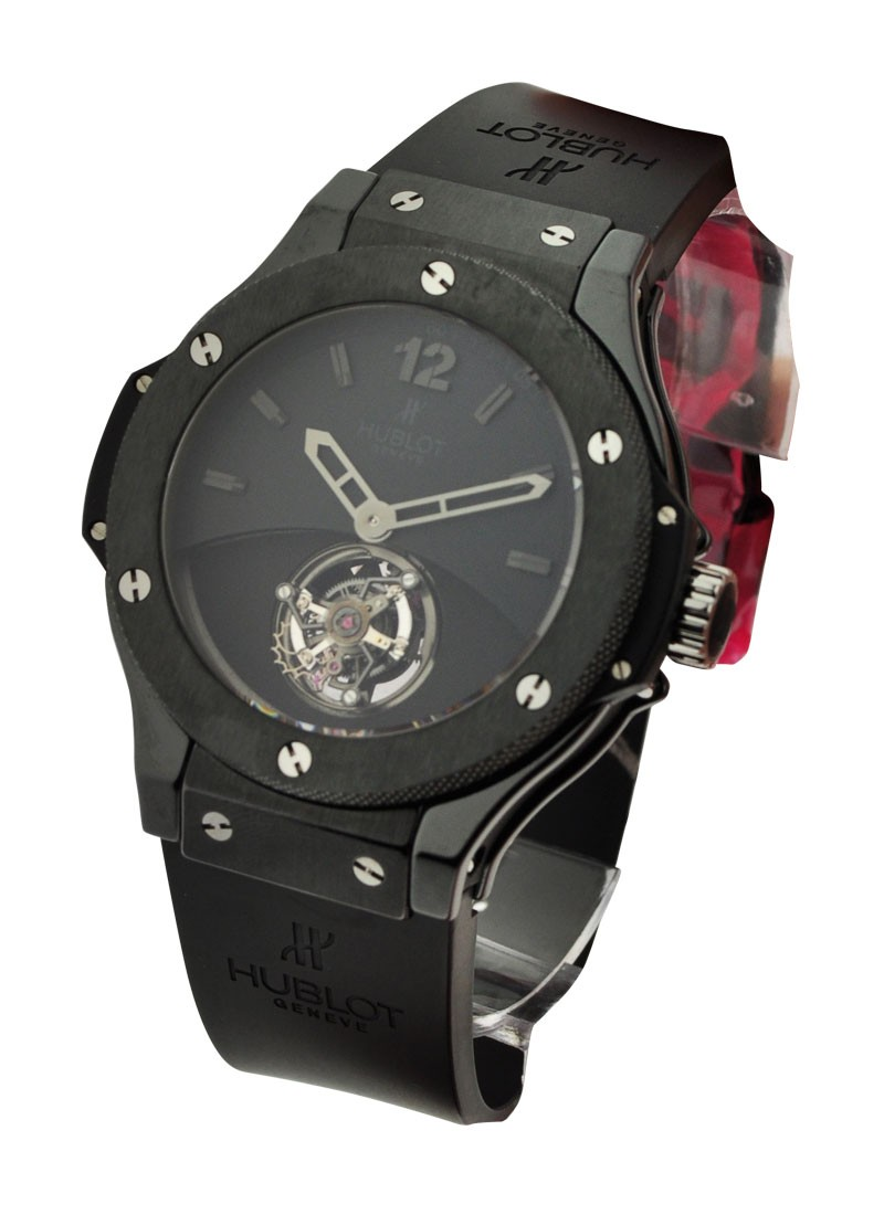 Hublot 44mm Solo Bang Tourbillon in Black Ceramic