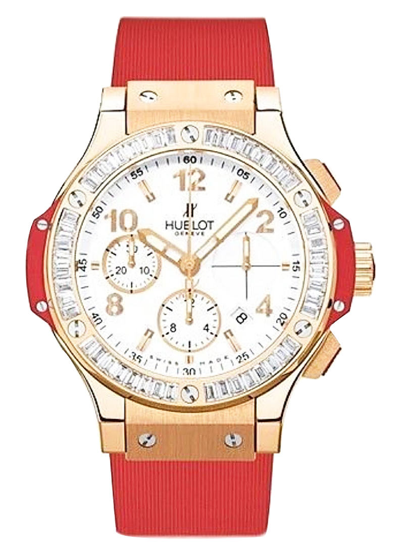 Hublot Big Bang 41mm in Rose Gold with Baguette Diamond Bezel