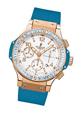 Hublot 41mm Big Bang Blue Carat    Baguette Blue Topaz  Bezel