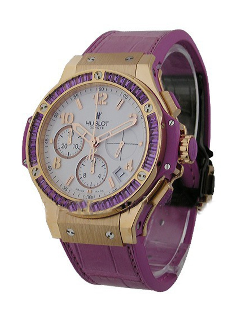 Hublot 41mm Big Bang Purple   Baguette Diamond Bezel