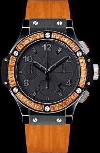 Hublot 41mm Big Bang Black Orange Diamonds