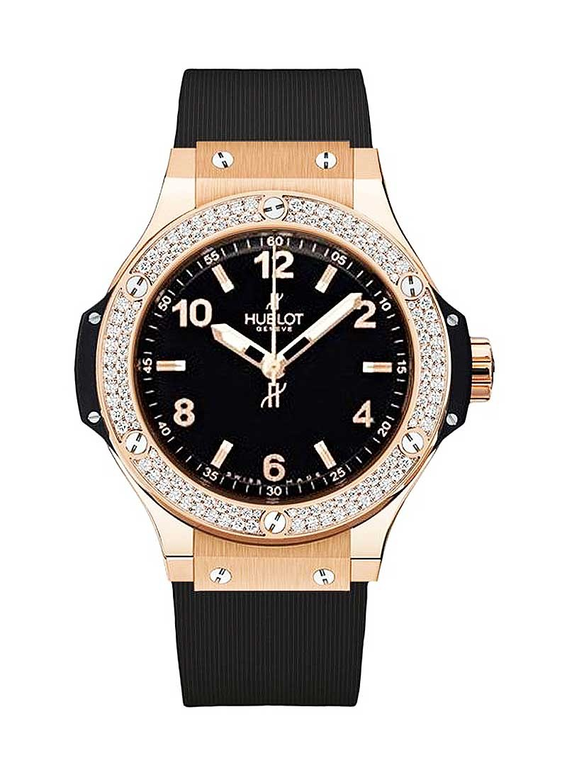Hublot Big Bang 38mm  in Rose Gold with Diamond Bezel