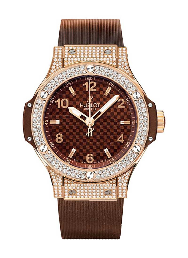 Hublot Big Bang Cappuccino 38mm in Rose Gold with Diamond Bezel