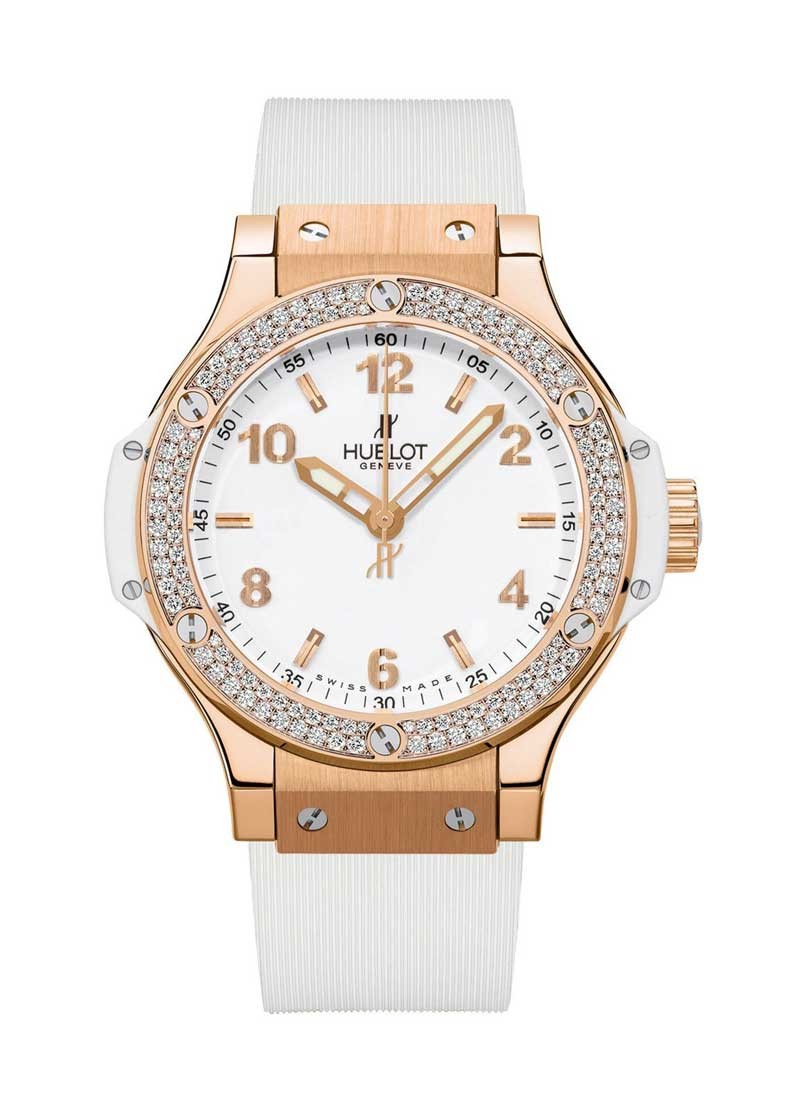 Hublot 38mm Big Bang in Rose Gold with Diamond Bezel