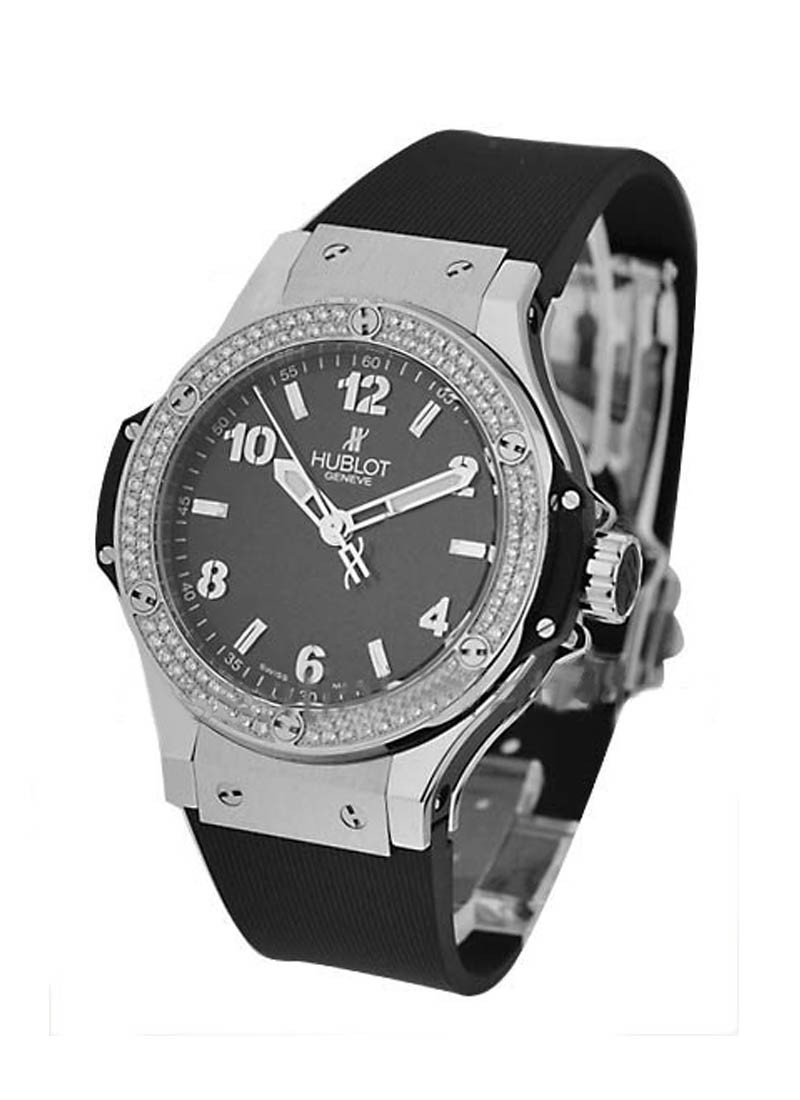 Hublot 38mm Big Bang Steel with 2 Rows Diamond Bezel