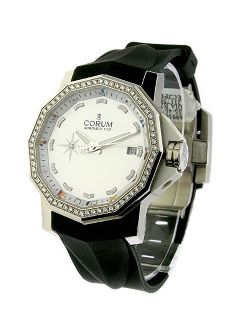 Corum Admiral's Cup Competition 40mm Steel with Diamond Bezel