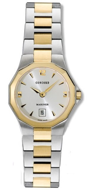 Concord Mariner 26mm Quartz in Steel with Yellow Gold