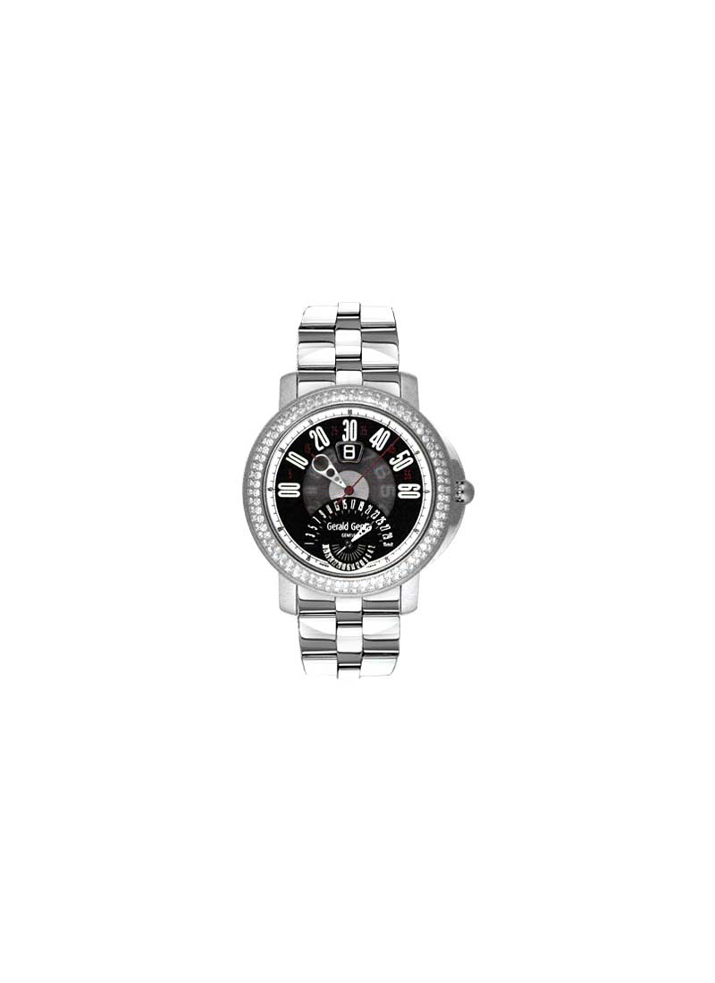 Gerald Genta Arena Bi-Retro Men's in Titanium with Diamond Bezel