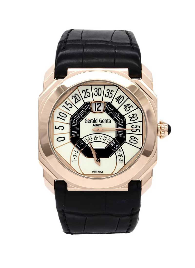 Gerald Genta Octo Bi-Retrograde Jump Hour in Rose Gold