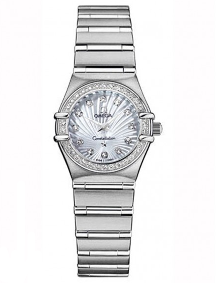 Omega Constellation 95 in Steel with Diamond Bezel