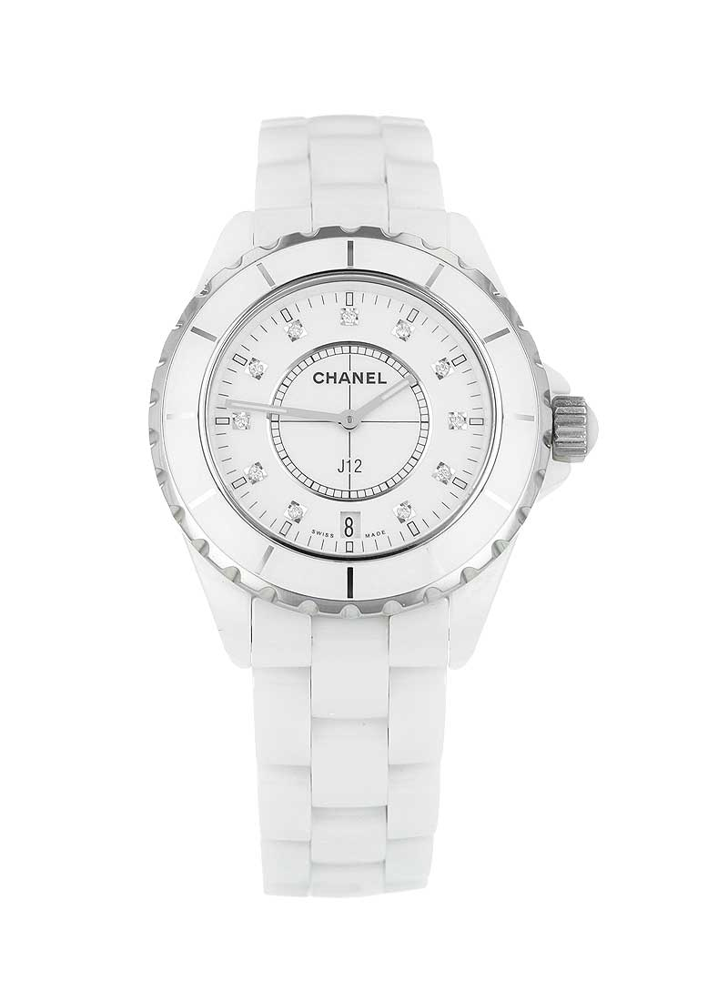Chanel J12 38mm Quartz in White Ceramic & Stainless Steel