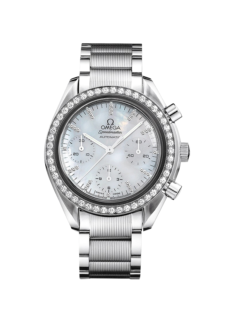 Omega Speedmaster Chronograph with Diamond Bezel