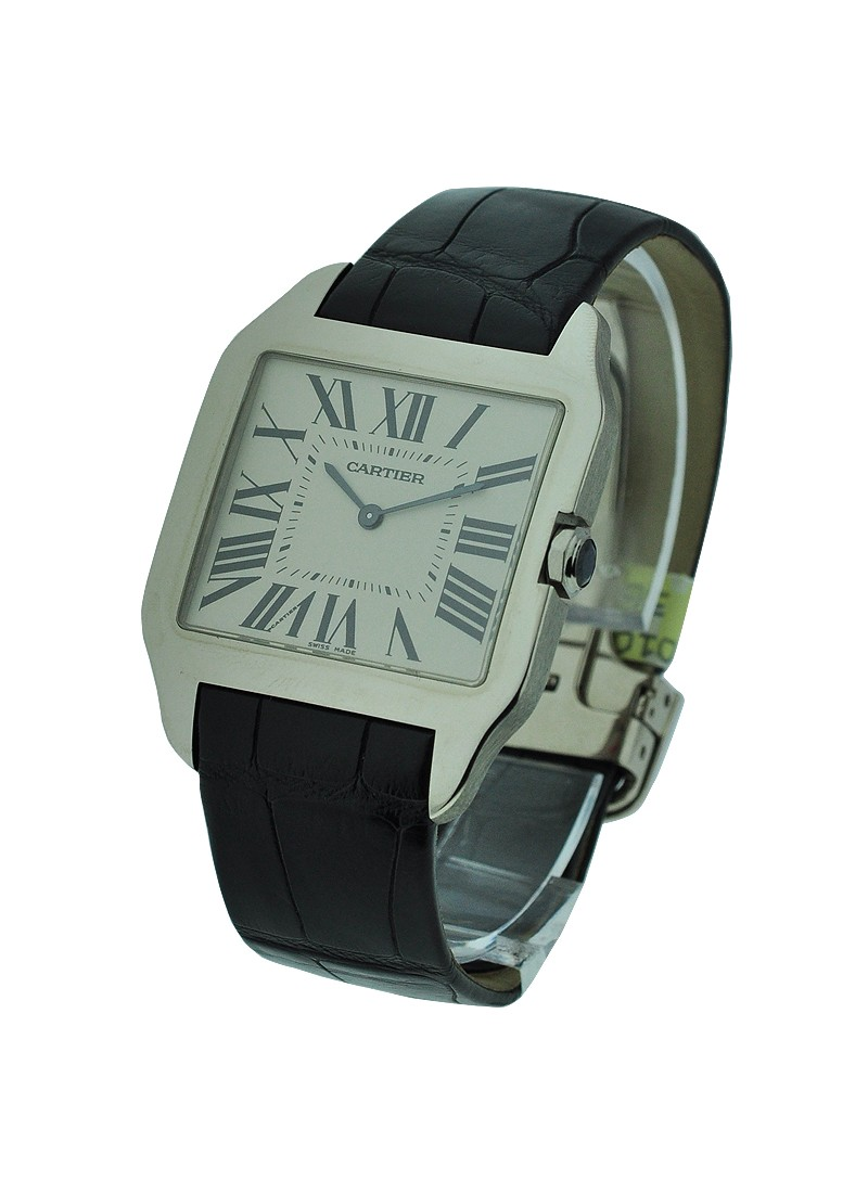 Cartier Santos Dumont Large Size in white Gold