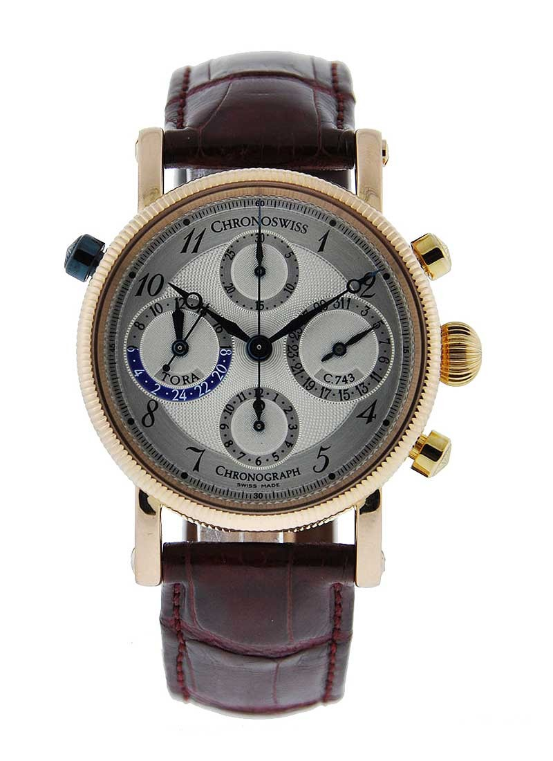 Chronoswiss Tora Chronograph Mens 38mm Automatic in Rose Gold