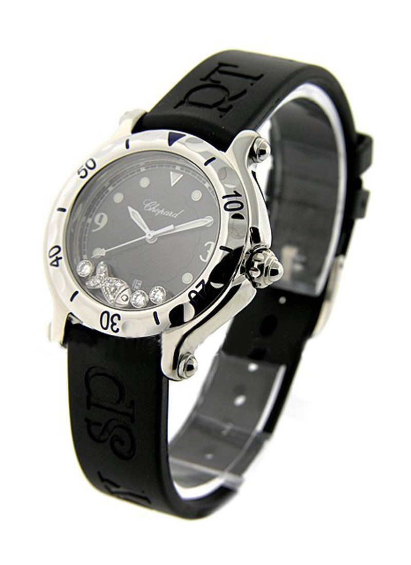 Chopard Happy Fish in Steel with Floating Diamonds