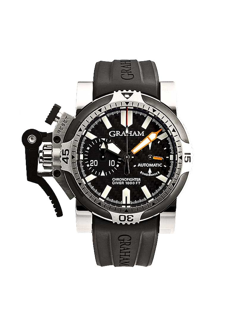 Graham Chronofighter Oversize Diver Tech Seal in Steel with PVD Bezel