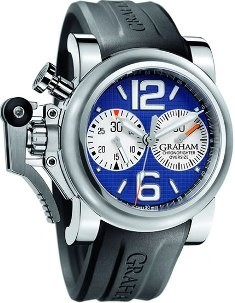 Graham Chronofighter Oversize - Blue Ranger in Steel