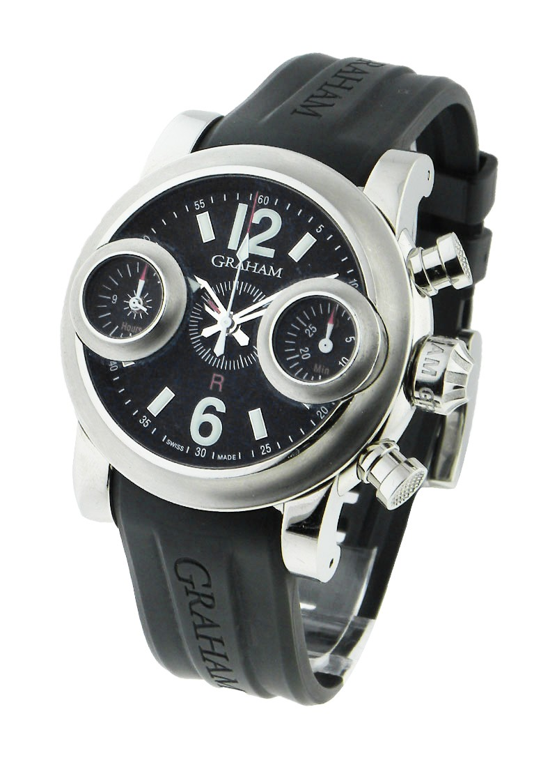 Graham Chronofighter Oversize 47mm in Steel