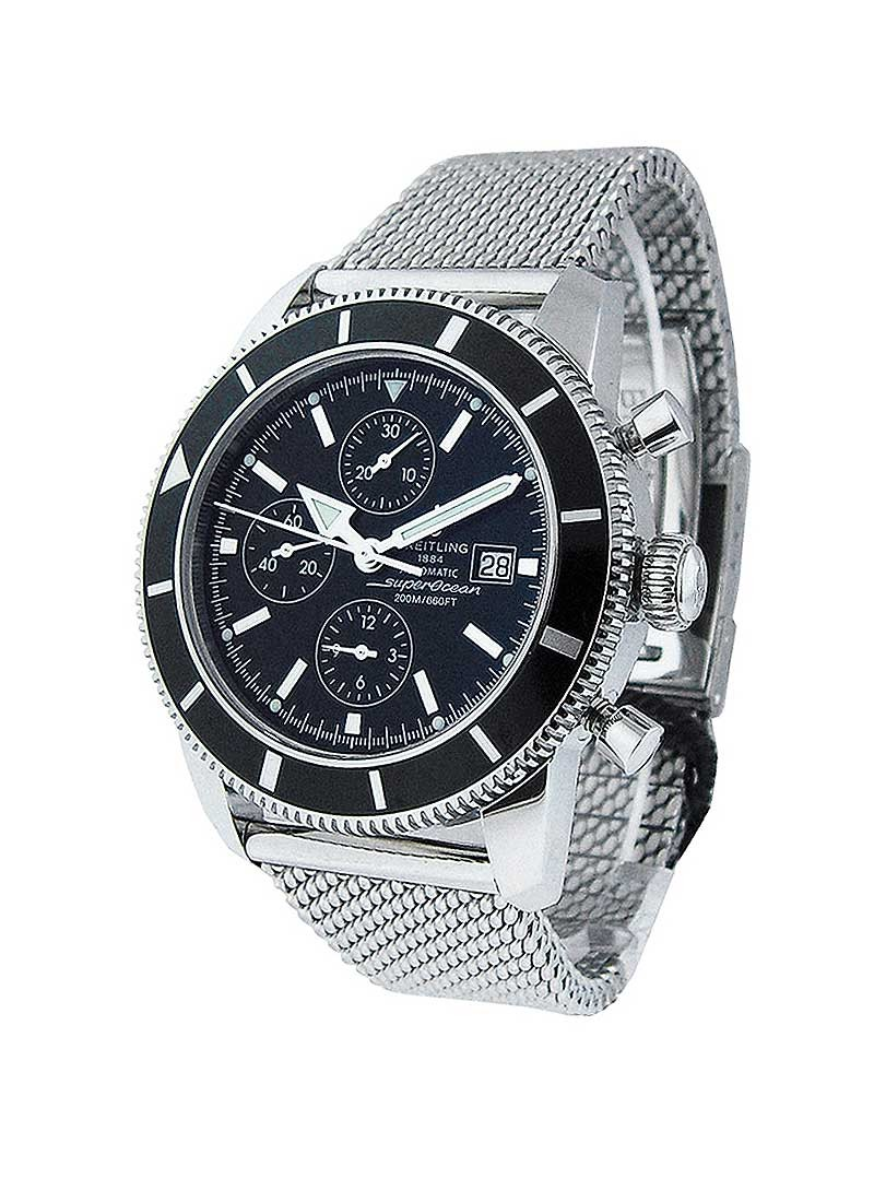 Breitling Superocean Heritage Chronograph in Steel with Black Bezel