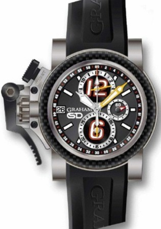 Graham Chronofighter Oversize 47mm in Titanium