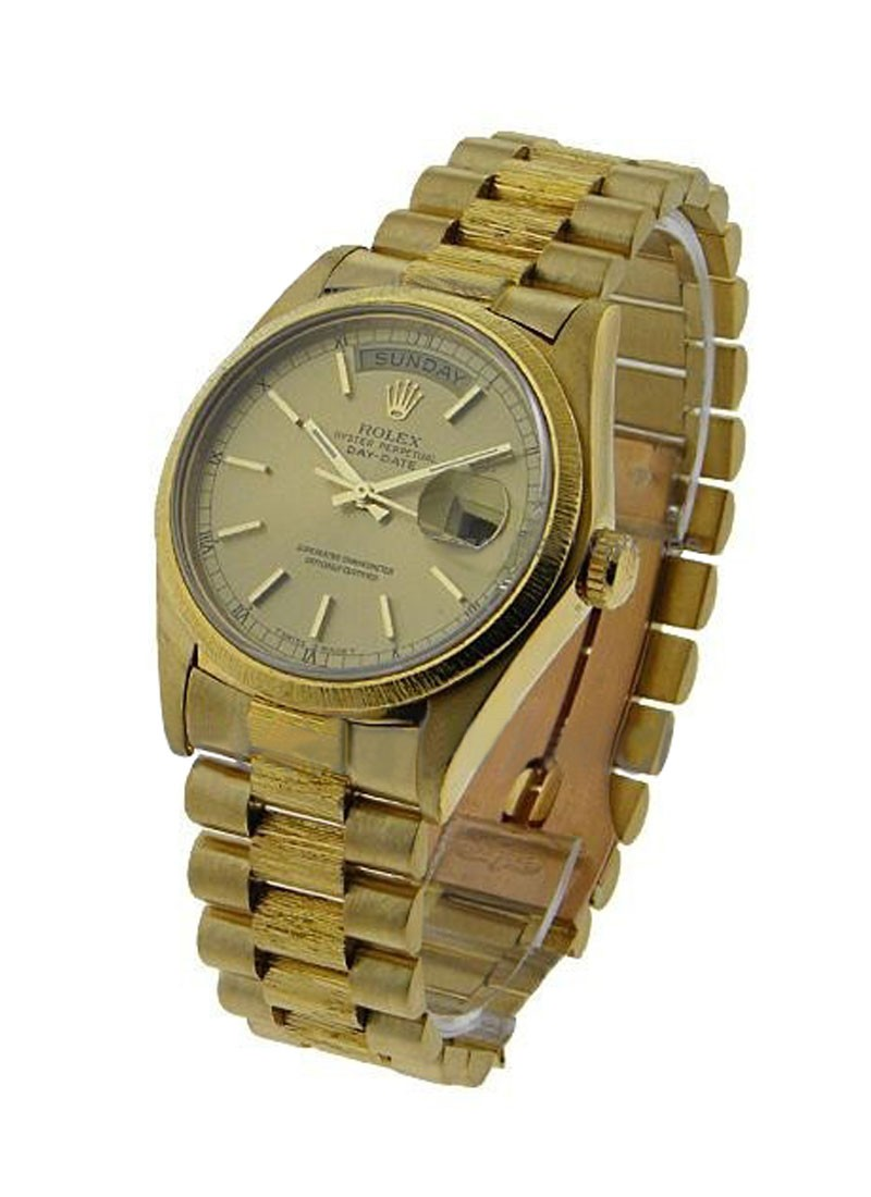 Rolex Used Men's Yellow Gold Single Quick President 18078