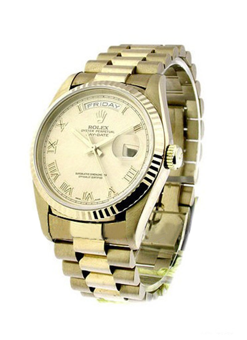 Rolex Used President Day Date Rolex in White Gold