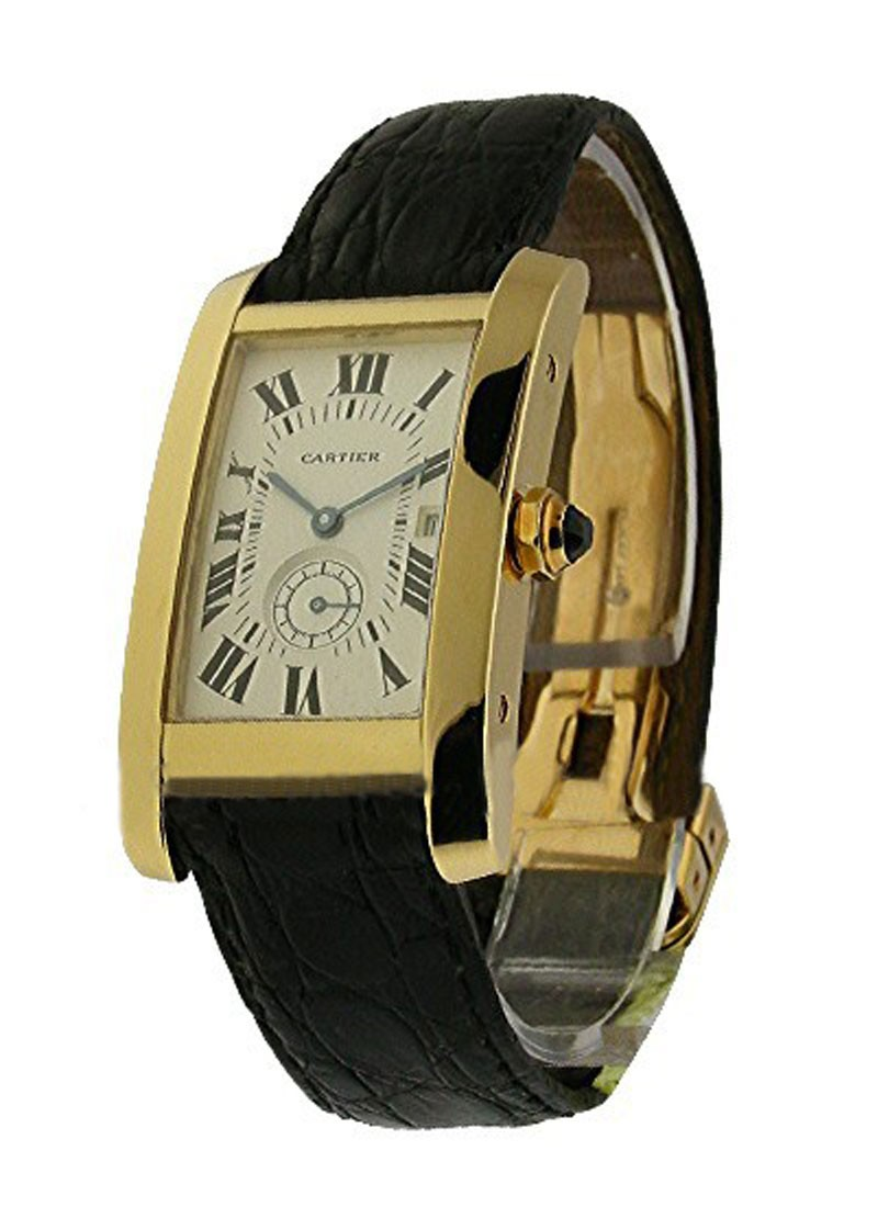 Cartier Mid Size - Tank Americaine in Yellow Gold