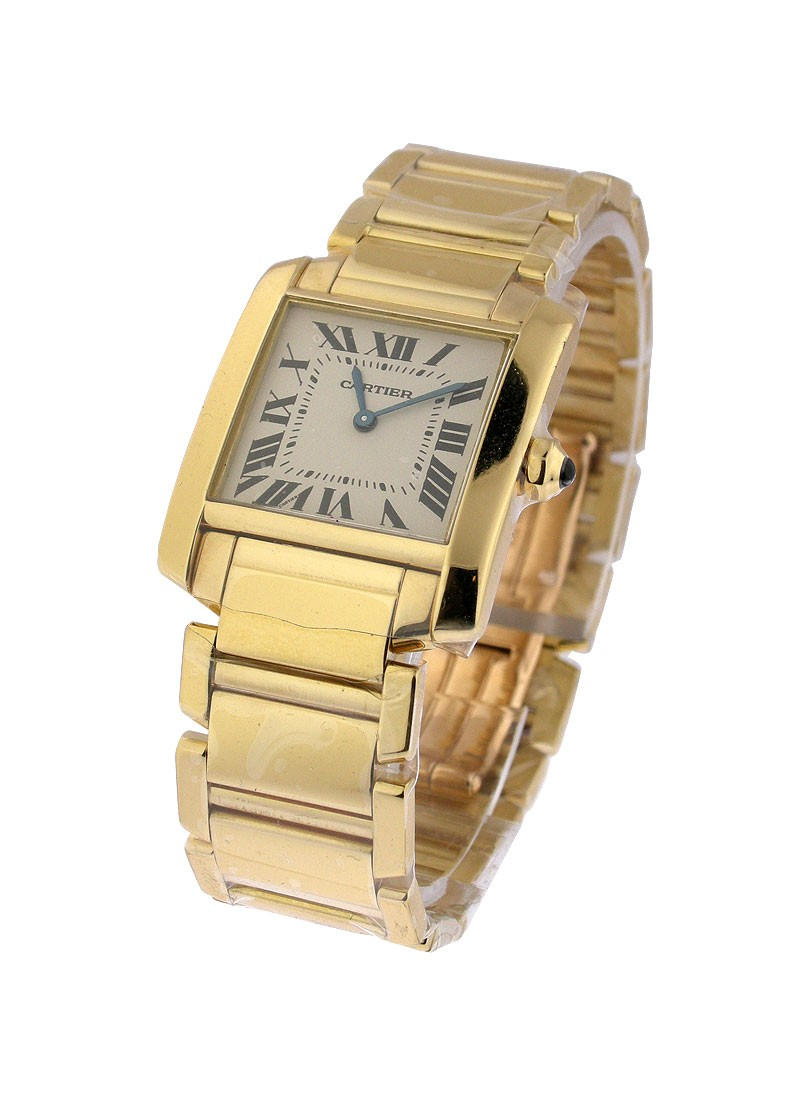 Cartier Tank Francaise Mid Size in Yellow Gold