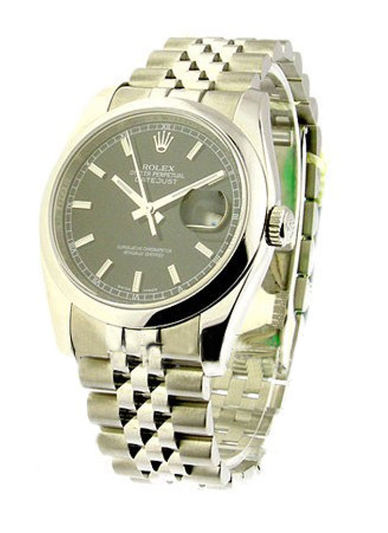 Rolex Used Men's Steel Datejust with New Style Heavy Jubilee Bracelet