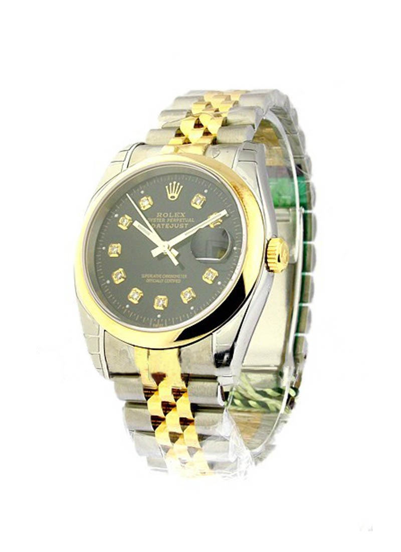 Rolex Unworn Datejust 36mm in Steel with Yellow Gold Domed Bezel
