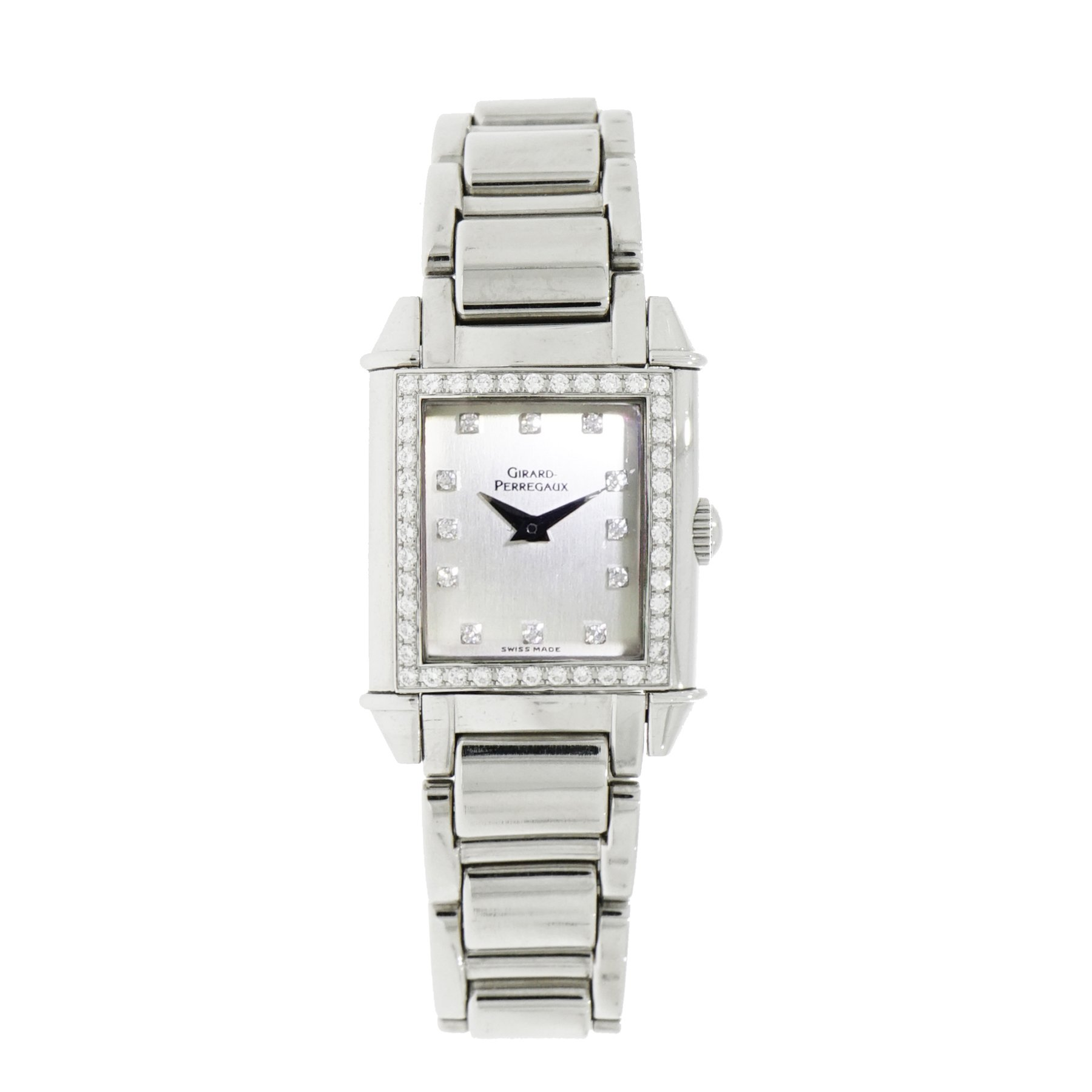 Girard Perregaux Vintage 1945 Lady's in Steel with Diamond Bezel