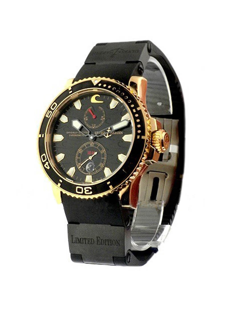 Ulysse Nardin Maxi Marine Diver Black Surf Limited Edition 45min Rose Gold