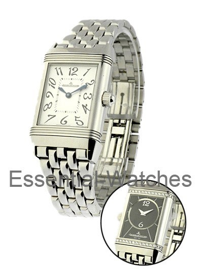 Jaeger - LeCoultre Lady's Duetto Reverso Classique in Steel with Diamond