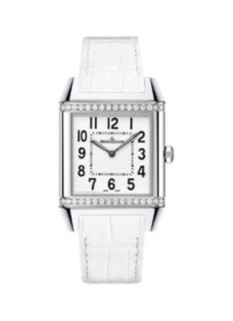 Jaeger - LeCoultre Ladys Reverso Squadra Classic in Steel with Diamond Bezel