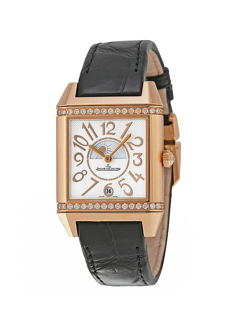 Jaeger - LeCoultre Reverso Squadra Lady Duetto in Rose Gold with Diamond Bezel