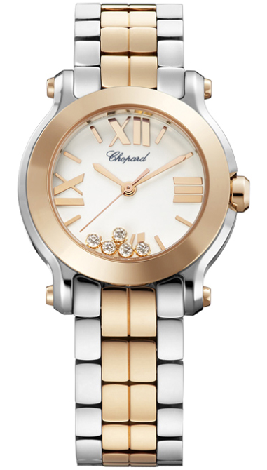 Chopard Happy Sport Round 30mm in Steel and Rose Gold